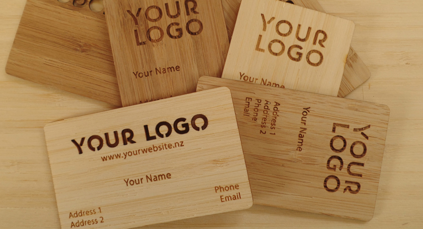 Bamboo Ply Business Cards